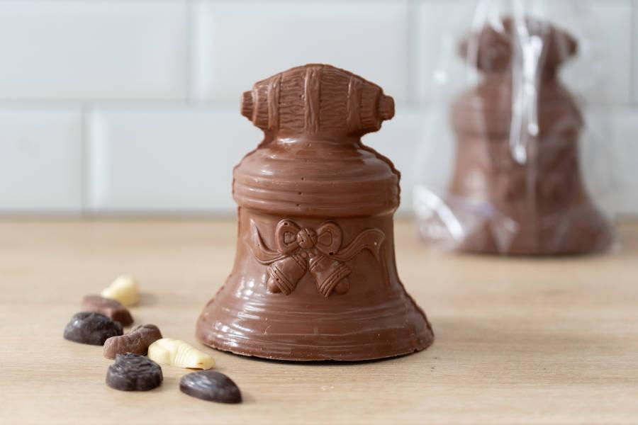 Cloche garnie Chocolat au Lait BIO - Coeur de Choc - La Ruche qui dit Oui ! à la maison