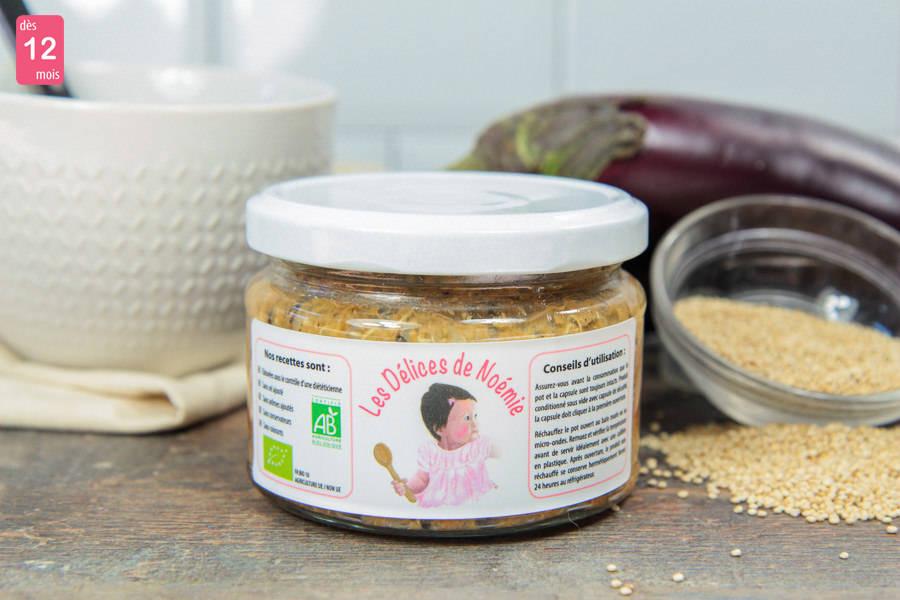 Boeuf haché aubergine et quinoa façon moussaka BIO - Les Délices de Noémie - La Ruche qui dit Oui ! à la maison