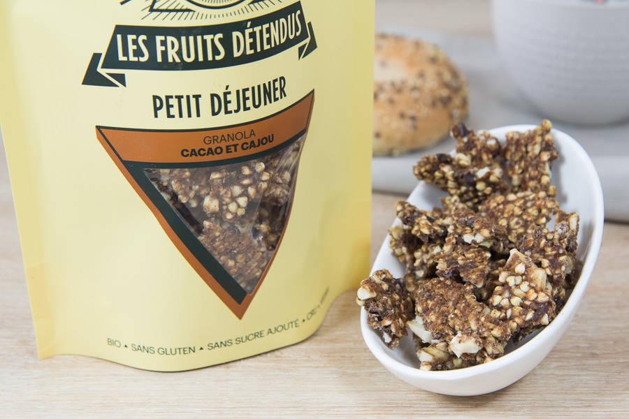 Granola Cacao Cajou BIO - Les Fruits Détendus - La Ruche qui dit Oui ! à la maison