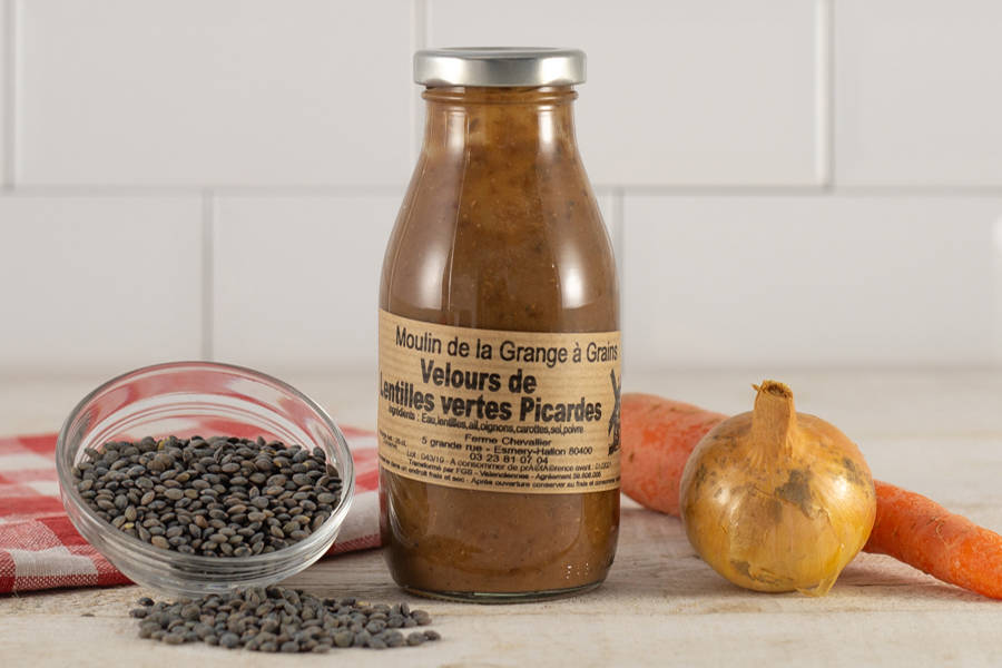 Velours de lentilles vertes picardes 25 cl - La Grange à grains - La Ruche qui dit Oui ! à la maison