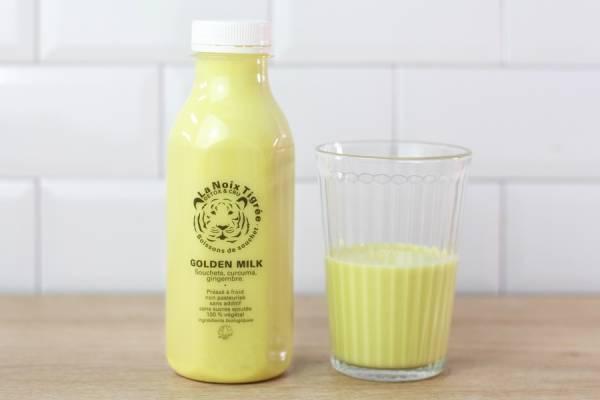 Boisson végétale golden milk BIO - La Noix Tigrée