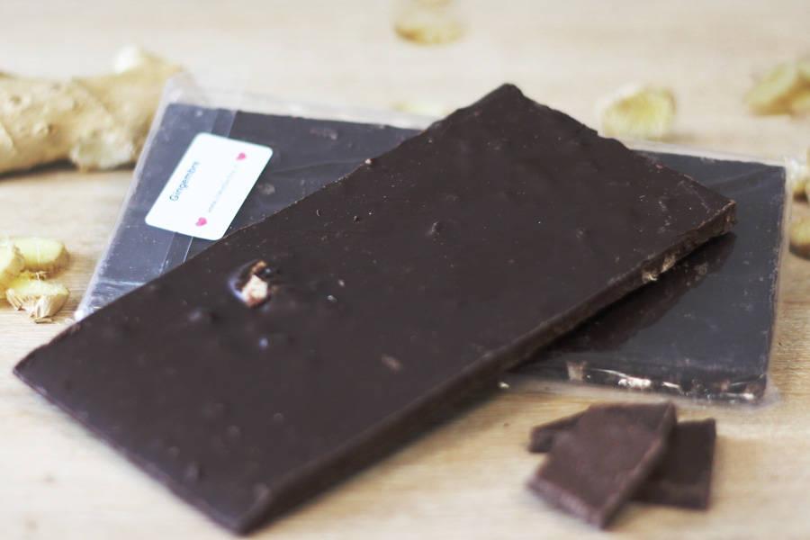 Chocolat Noir gingembre confit BIO - Coeur de Choc - La Ruche qui dit Oui ! à la maison