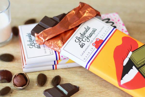 Bouche croqueuse lait & noisettes - Le Chocolat des Français - Le Comptoir Local