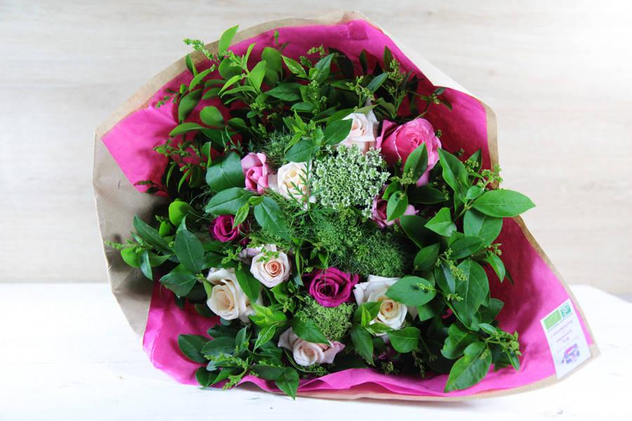 Bouquet fête des mères rose BIO - Fleurs de Cocagne - La Ruche qui dit Oui ! à la maison