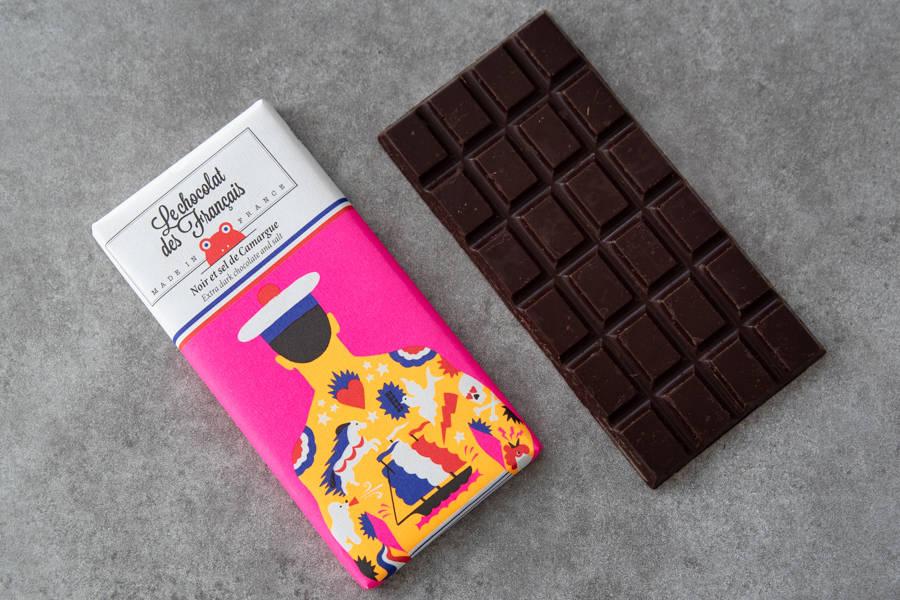 Chocolat noir pointe de sel - Marin BIO - Le Chocolat des Français - La Ruche qui dit Oui ! à la maison