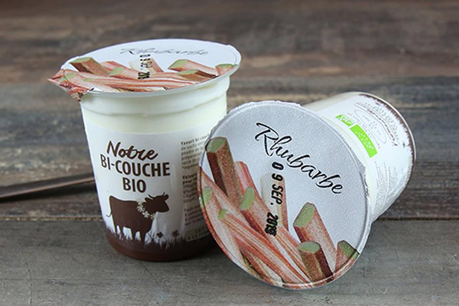 Yaourt bi-couche rhubarbe BIO - La Fromentellerie - La Ruche qui dit Oui ! à la maison