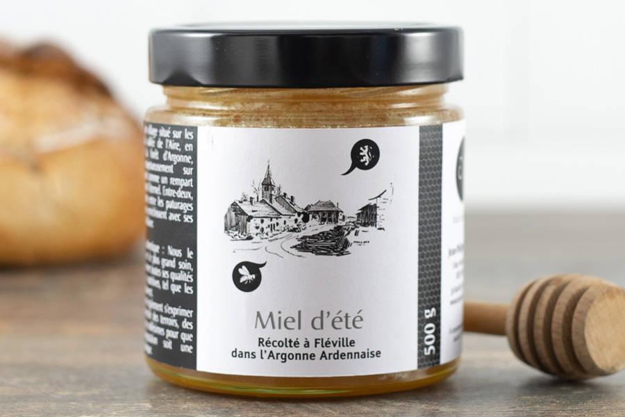 Miel de fleurs d'été 500 g - Miel de village - La Ruche qui dit Oui ! à la maison