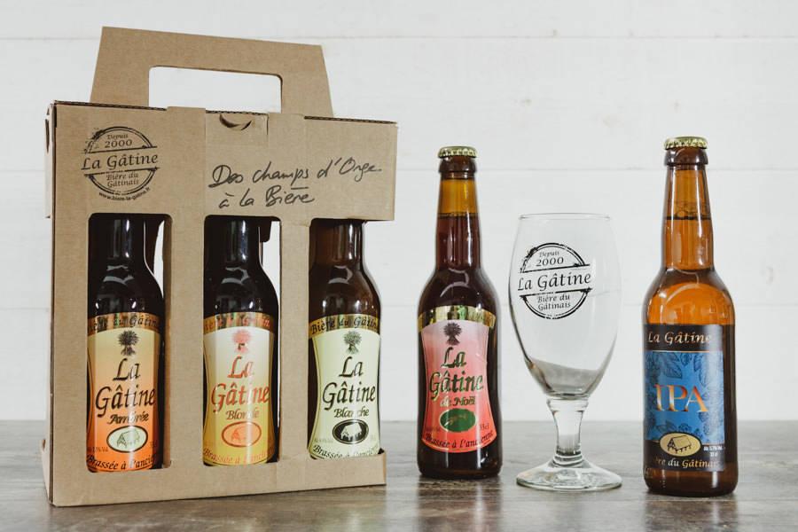 Coffret de bières avec verre - La Gâtine - La Ruche qui dit Oui ! à la maison