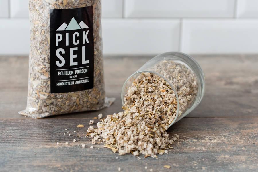 Sachet bouillon gros sel poisson - PickSel - La Ruche qui dit Oui ! à la maison