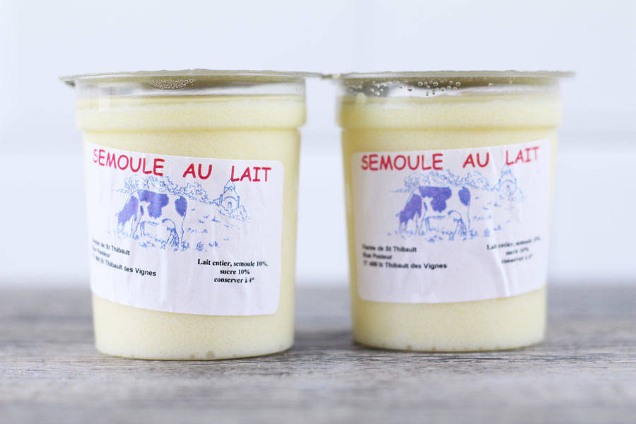 Semoule au lait - Ferme de Saint-Thibault des Vignes - La Ruche qui dit Oui ! à la maison