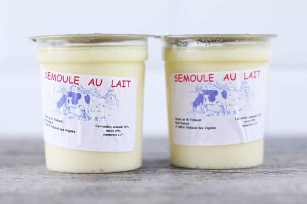 Semoule au lait - Ferme de Saint-Thibault des Vignes