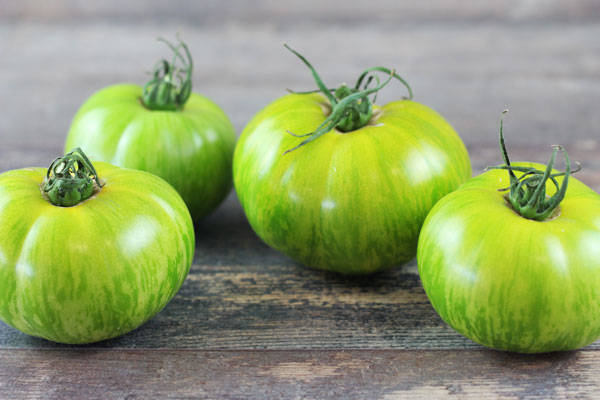 Tomate ancienne tigrée verte - Les Saveurs de Chailly