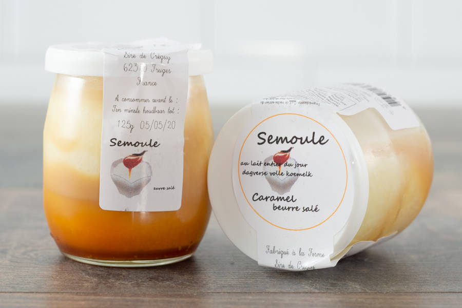 Semoule au lait (caramel beurre salé) - Ferme du Sire de Créquy - La Ruche qui dit Oui ! à la maison