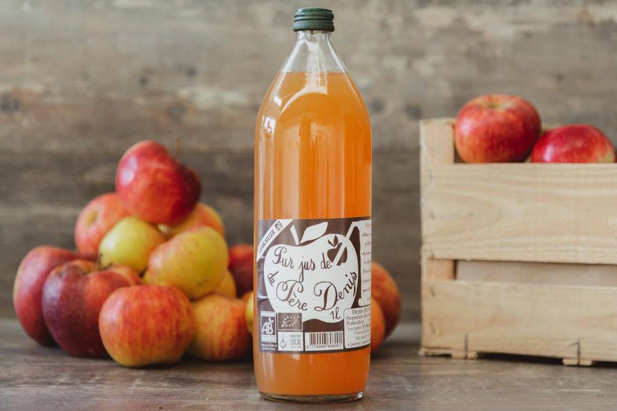 Jus de pomme Lanscaillier BIO - Le Père Denis - La Ruche qui dit Oui ! à la maison