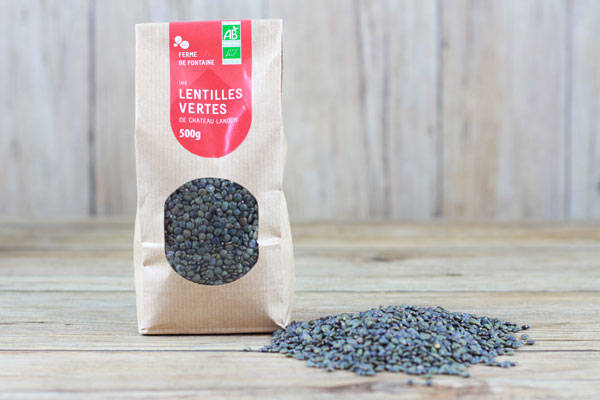 Lentilles vertes BIO (500g) - Ferme de Fontaine
